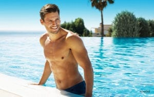 Men can feel more confident at the pool with a firmer chest after gynecomastia surgery.